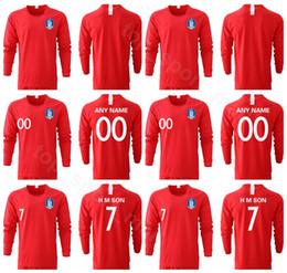 south korea shirts 2019 - South Korea H M SON Long Sleeve Jersey 2019 2020 Men Soccer YHGO YLEE HMSON Football Shirt Kits Uniform Red discount sou