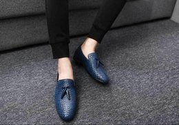 crocodile brand shoes men Australia - office loafers men shoes formal mens dress shoes leather crocodile italian brand luxury designer shoes mens oxfords wedding
