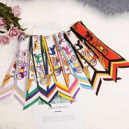 $enCountryForm.capitalKeyWord NZ - Bandanas Version of The Ladies Scarf Printing Wild Magic Silk Scarf Tied Bag Handle Small Ribbon Scarf Headscarf