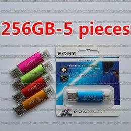 Metal 256gb Flash Drive Australia - 8GB 16GB 32GB 64GB 128GB 256GB SONY Metal Mini OTG usb flash drive USB2.0 Storage disk flash pendrive For Smart phone computer