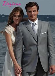 $enCountryForm.capitalKeyWord Australia - Linyixun Unique Design Hot Sale Male Suits Notched Lapel Three Butten Gold Groomsman Tuxedos Men Wedding Suits