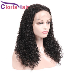 $enCountryForm.capitalKeyWord NZ - Kinky Curly Braided Lace Front Wigs For Black Full Density Human Hair Malaysian Curly Wig Pre Plucked Hairline Natural Color Unprocessed Wig