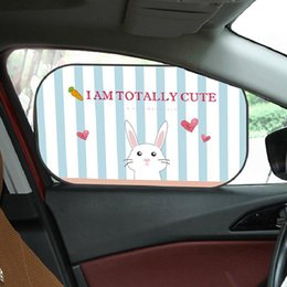 car windows sun shade NZ - Cute Cartoon Car Sun Shade Side Window Sunshade Protector for Baby Car Windows UV Protection Sun Visor Blocking Auto Curtain