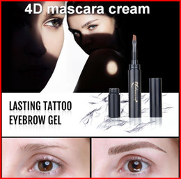 eyebrow gel mascara NZ - eyelash mascara cream eyebrow Makeup Natual Materials cosmetic for eyes enhancers NICEFACE 4D Natural fiber gel bea119