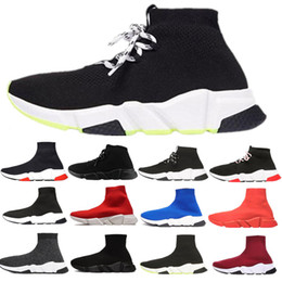 Wholesale mens black football socks online – funny 2020 designer sock shoes speed trainer casual ankle boot triple black white glitter women mens Chaussures platform sports sneakers