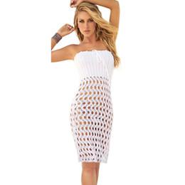 $enCountryForm.capitalKeyWord Australia - HOT! Blanco Convertible Bikini Cover Up Beach Skirt White Crochet Beach Dress Sexy Swimsuit Cover Ups