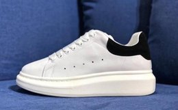White Casual Closed Shoes For Girls Canada - Designer Luxury Brand white leather casual shoes for girl women men black gold red pink fashion comfortable flat sneakers size 35-43