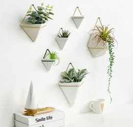 green poles NZ - Nordic wall hanging wall hanging green plant potted ornament pendant tea shop coffee shop barber shop creative wall hanging