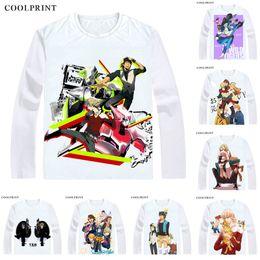 Casual Long Sleeve T Shirts Australia - Tiger & Bunny Tiger And Bunny T Shirt T&B Kaburagi T Kotetsu Anime Custom T-shirt Casual Vintage Print Long Sleeve TShirts