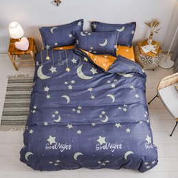orange rose bedding set 2020 - Beautiful night sky bedding set king queen full single family size bed linen set single Double bed- birthday gift discou