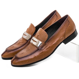 $enCountryForm.capitalKeyWord Australia - Fashion Brown  Black Summer Loafers Social Shoes Mens Dress Shoes Genuine Leather Wedding Groom Shoes