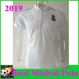 18cecb30816 2019 Real Madrid Polo Shirt Leisurewear White Soccer Jersey 19 United  Soccer Polo Football Uniforms Sportswear Short Sleeve Shirt Jerseys