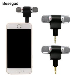$enCountryForm.capitalKeyWord NZ - Besegad Mini Portable 3.5mm Jack Stereo Microphone Mic for Mobile Phone iPhone Xiaomi Laptop Voice Recording Internet Chatting