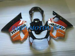 Black Body Honda Australia - Injection Customized Fairing set for HONDA CBR600F4 99 00 CBR600 F4 1999 2000 CBR 600 F4 600F4 CBR600 gray black Fairings body kit HP64