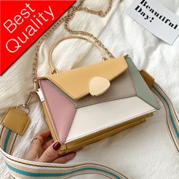 $enCountryForm.capitalKeyWord NZ - Contrast color Leather Crossbody Bags For Women 2019 Travel Handbag Fashion Simple Shoulder Messenger Bag Ladies Cross Body Bag