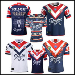 11c10144037 2019 GRAND FINAL SYDNEY ROOSTERS MENS PREMIERS Home rugby Jersey NRL National  League Australia Sydney Roosters rugby Jerseys shirt