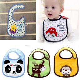 Waterproof toWels online shopping - Baby girl saliva towels cartoon frog panda printed cotton bandana burp cloths waterproof kids bibs