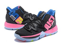 buy online 2724d c39f5 2019 Kyrie 5 Mens Designer Sneakers Concepts Ikhet Taco Black Magic CNY  Turbo Neon Blends 5s Basketball Shoes size us 7-12