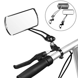 venda por atacado 2pcs bicicleta Retrovisor guiador Espelhos rotação de 360 ° Espelho Retrovisor guidão largo Handle Angle bicicleta Espelho Retrovisor @