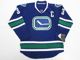5e74f762451 Cheap custom HENRIK SEDIN VANCOUVER CANUCKS THIRD PREMIER HOCKEY JERSEY  stitch add any number any name Mens Hockey Jersey XS-6XL