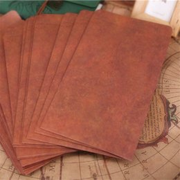 greeting card paper wholesalers NZ - 10PCS Retro Kraft Paper Envelopes Greeting Card Vintage European Style Blank Postcard Wedding Invitation Card Office Supplies