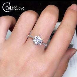 $enCountryForm.capitalKeyWord NZ - CoLife Jewelry 1.2ct 2ct D Color VVS1 Grade Moissanite Ring for Wedding 925 Silver Moissanite Ring for Engagement Birthday Gift