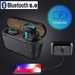 Q32 TWS Беспроводные наушники Bluetooth Наушники 5.0 Беспроводные наушники 3D Стереогарнитура с зарядным устройством 1500 мАч Power bank на Распродаже