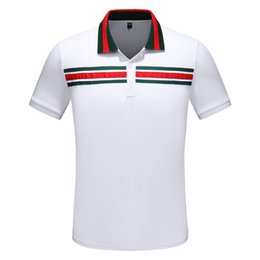 Fiber Italy NZ - 2019 New Italy fashion Classic designers Brand new men polo t shirts short sleeve embroidery Letter mens polos 3XL