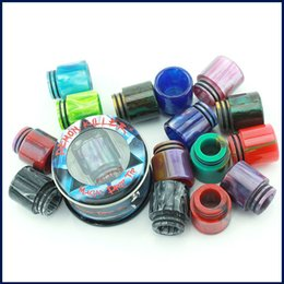 tfv8 wide bore drip tips Australia - 100% original Demon Killer Magic Epoxy Resin Drip Tips Wide Bore Mouthpiece For 510 528 Cleito TFV8 TFV12 Atomizer DHL