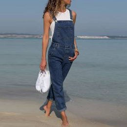 Woman Fashion Fitted Jumpsuit Australia - Womens Jeans Woman Fashion Baggy Denim Pants Dungarees Ladies Slim Fit Jeans Female Overall Jumpsuits Pants Casual Long Trousers J190505