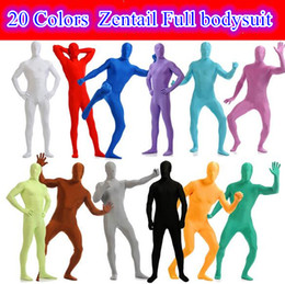 $enCountryForm.capitalKeyWord NZ - 20colors sexy Full Body Zentai Suit Mens Lycra dance Show theme costume skin suit skinny tight Halloween Chirstmas suit plus size 3xl