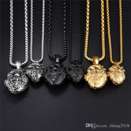 Necklaces Pendants Australia - Open Heart & Blood Vessel Pendant Necklace For Men Magnet Buckle Design Punk Gold Color _ Black Box Link Chain gjGX1168