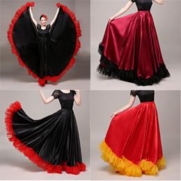 31312c4c64bc capitalKeyWord Australia - 90cm Plus Size Gypsy Spanish Flamenco Skirt Lace  Woman Girls
