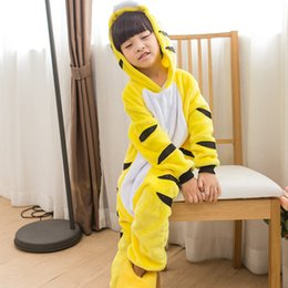 sleepwear costumes Australia - Kids animal onesie sleepwear costume Cosplay Cartooon Hoodies Robes animal pajamas Animepyjama Jumpsuit cosplay costume for drop shipping