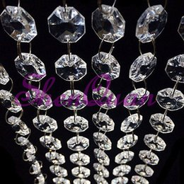 clear crystal beads curtain Canada - Free shipping ,200m lot,party decorations acrylic crystal diamond strand acrylic crystal bead curtain wedding DIY party decor