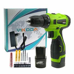 Lithium power batteries online shopping - Cordless Drill V Electric Screwdriver Two Lithium Battery DIY Household Multi function DIY Power Tools Carton Plus Accessories