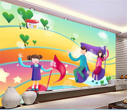 Kids Wallpaper Stickers Australia - custom size 3d photo wallpaper kids room bed room mural cartoon country notes 3d picture sofa TV backdrop wallpaper non-woven sticker