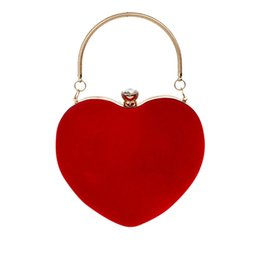 $enCountryForm.capitalKeyWord UK - OCARDIAN Handbags Heart Shaped Diamonds Women Evening Bags Chain Shoulder Purse Day Clutches Evening Bags Party Wedding June19
