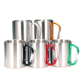 $enCountryForm.capitalKeyWord NZ - Christmas Gift - Stainless Steel Double Walled Mugs, Hiking, Travel Cups, Metal Mugs with Carabiner Handle