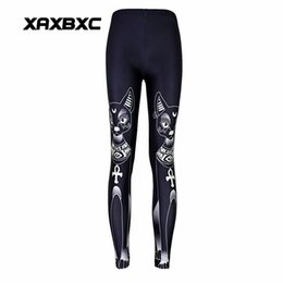 sexy black girls yoga pants NZ - New 3505 Sexy Girl Pencil Pants Black Cat Egypt Feline Goddess Bastet Printed Running Fitness Sport Women Yoga Pants Plus Size