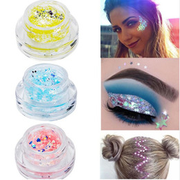 Cream for tattoos online shopping - DROP Glitters for Art Body Art Glitter Tattoos Powder Gel Hair Eye Glitter Flash Heart Loose Sequins Nude Face Cream Festival Glitter