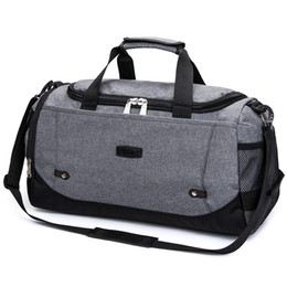 large duffel bag women UK - Nylon Travel Bag Large Capacity Men Hand Luggage Travel Duffle Bags Nylon Weekend Bags Women Multifunctional Travel Bags