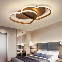 Heart sHaped room ligHt online shopping - New Modern Ceiling Lights LED Lamp for Living room Bedroom lamparas de techo Heart shape Avize Lustre V V Ceiling Lamp