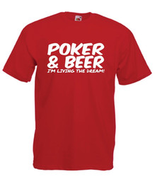 Red Black Card Game UK - POKER & BEER funny card game xmas birthday gift mens womens new top T SHIRTFunny free shipping Unisex Casual Tshirt