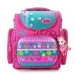 White pocket dog online shopping - 2019 Delune Brand Large Capacity Children Schoolbag Fashion Orthopedic School Bags For Girls Cartoon Dog Owl School Backpack Bag