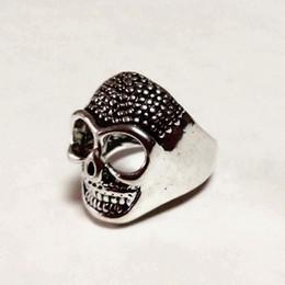 $enCountryForm.capitalKeyWord Australia - Free Shipping Mixed 100pcs PUNK gothic Gothic Lolita Skull Style ring Men Band Jewelry Bikers (Arts and Crafts)