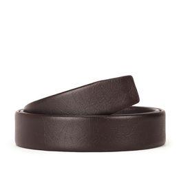 Canvas Cow Prints UK - 2019-45 Men's 2-layer leather 3.5 Men's belt automatically buckles headless cow belt