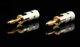 $enCountryForm.capitalKeyWord NZ - Wholesale- 4mm Nakamichi Banana Plug 24K Gold Plated Speaker Copper Adapter Audio Jack Socket Screw Binding Post Connector RCDNK