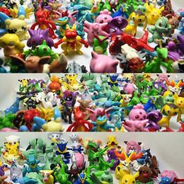 $enCountryForm.capitalKeyWord Australia - 200 PCS 3-5 Cm Mini Pikachu Action Figure Kids Toys Children Birthday Christmas Gifts AnimeToy Forest Stump Tree