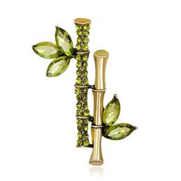 $enCountryForm.capitalKeyWord UK - 2019 New Crystal Fashion Bamboo Shape Rhinestone Brooch Pin Lady Dress Scarf Charms Accessory Women Luxury Jewelry